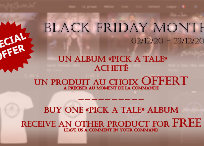 PROMOTION BLACK FRIDAY